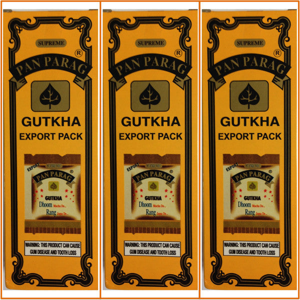 3 Boxes Pan Parag Gutkha 52 x 4g Each Export Quality