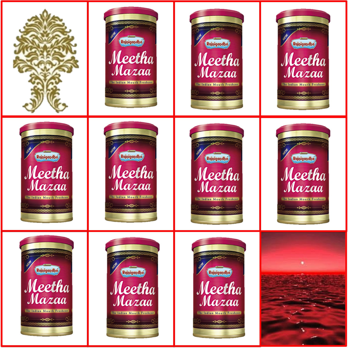 Ten (10) Cans 50g Rajnigandha Meetha Mazaa Export Quality July 2017