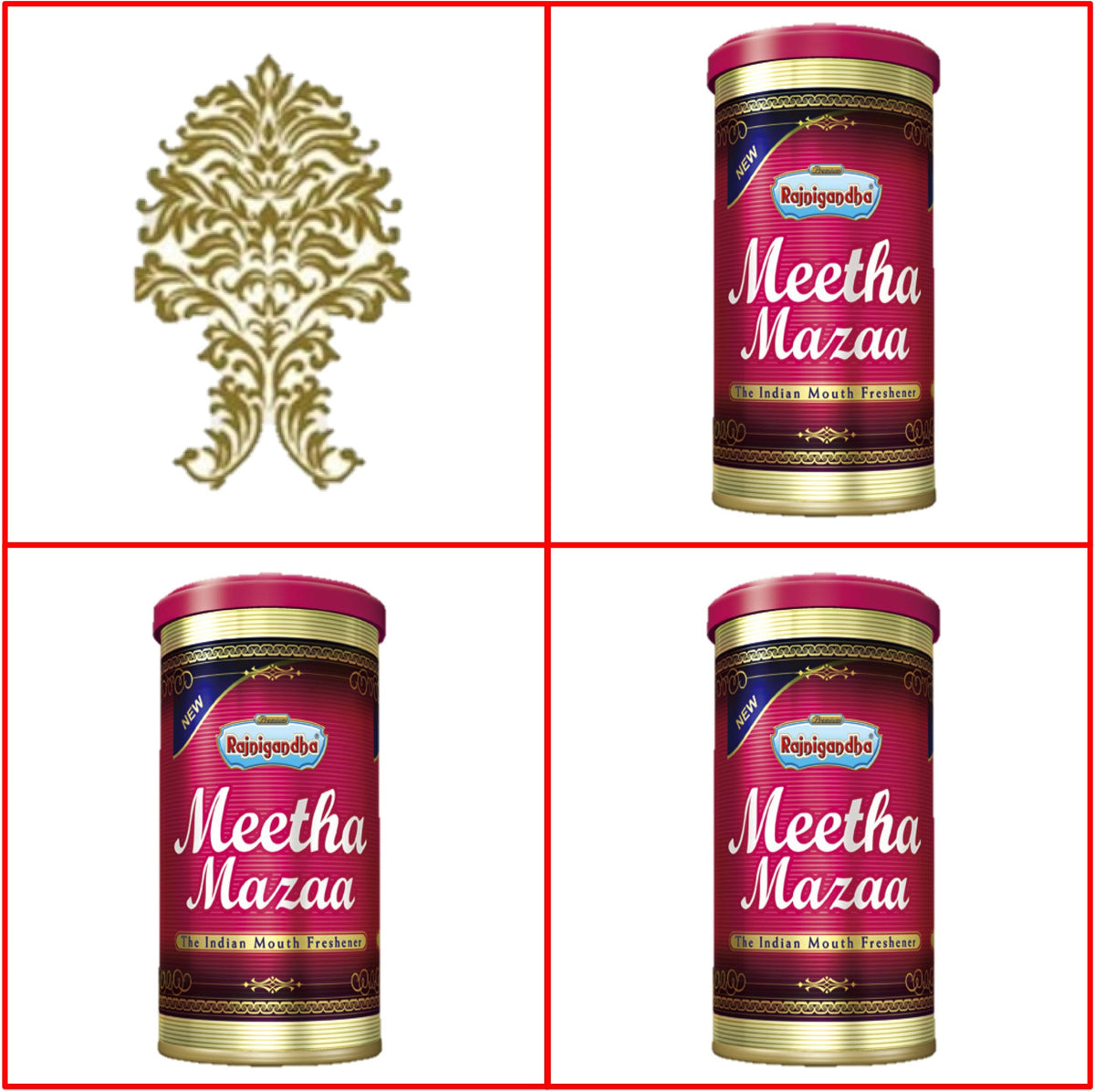 Three (3) Cans 50g  Meetha Mazaa Export Quality July 2017