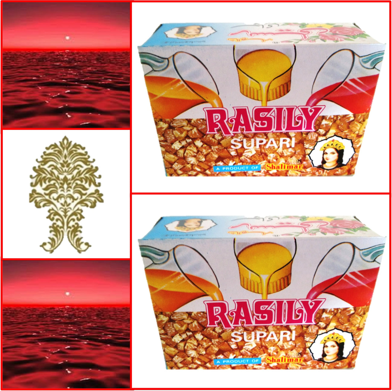 2 Packs. Shalimar Rasily Supari Pack. 48 pouches 96g. Export Quality!!