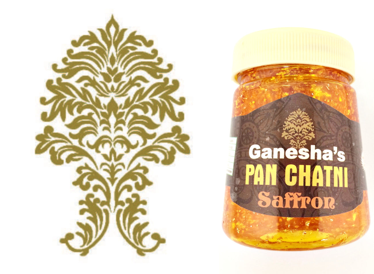 ONE Bottle Pan Chatni Chutney Saffron Export Quality