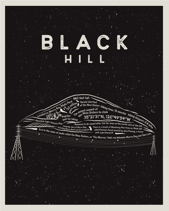 Black Hill Art Print