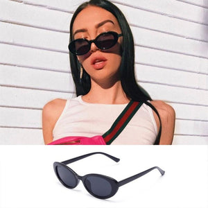 European and American retro oval cat eye sunglasses