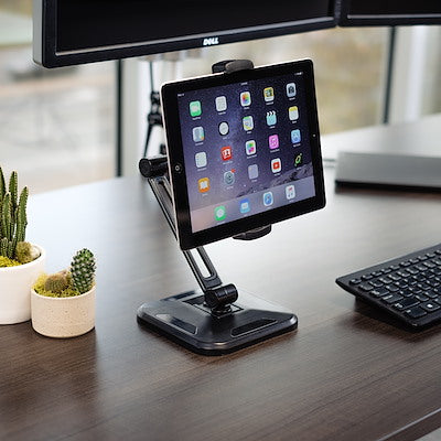 Durable Universal Tablet Holder With Desk Stand For Up to 13 Inch Tablets