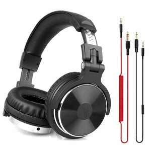 Wired Professional Studio Pro DJ Headphones With Microphone