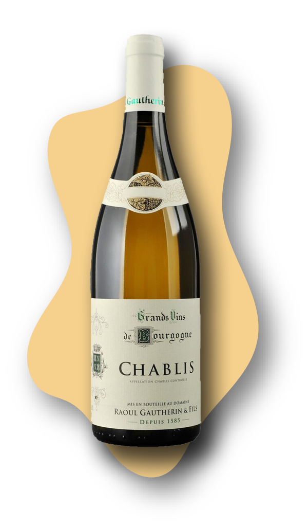 Domaine Raoul Gautherin Chablis, France, 2018 STARS of White Wine Online Wine Tasting Class Image at learnaboutwine.com