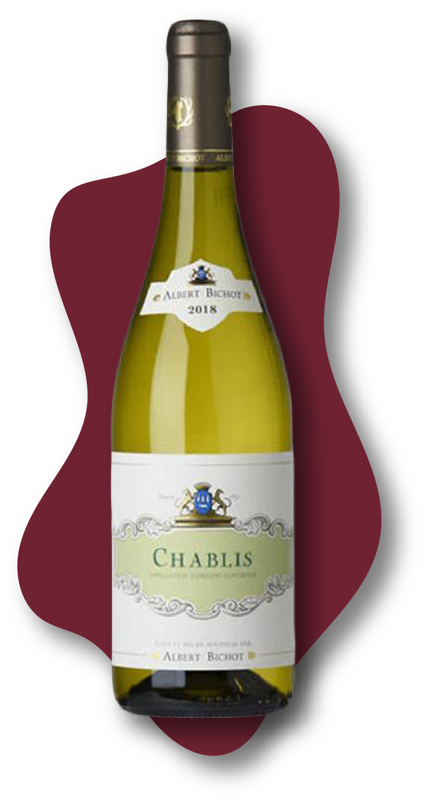 Albert Bichot Chablis, Burgundy, France, 2018  Online Wine Class Image at learnaboutwine.com
