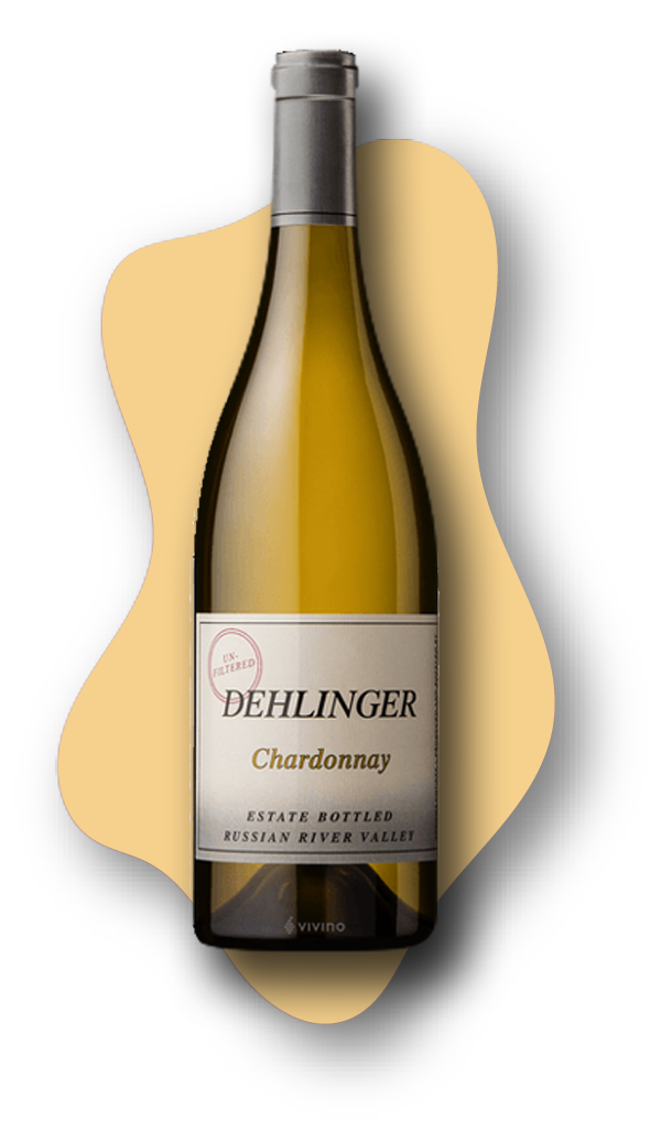 Dehlinger Estate Chardonnay, Russian River Valley, Sonoma, California, 2018, STARS of White Wine online wine tasting class at learnaboutwine.com