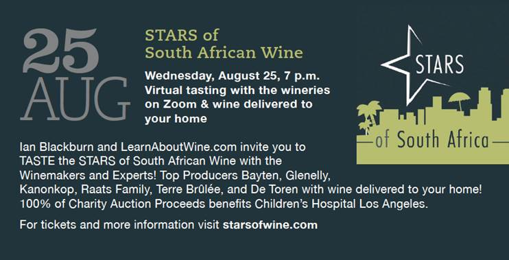 As Seen In LA Magazine | STARS of South Africa | Online Wine Event | LearnAboutWine