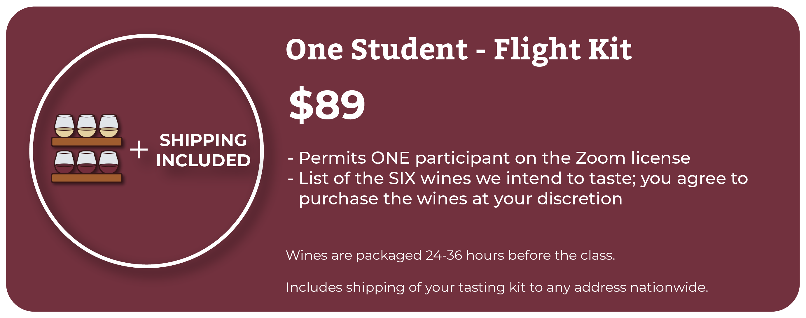 Flight Kit Wine Camp Prices  Online Wine Class Image at learnaboutwine.com