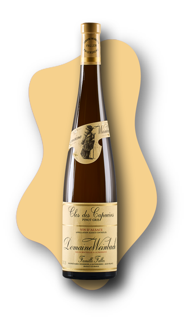 Domaine Weinbach Pinot Gris, Cuvée Sainte Catherine, Clos des Capucins, Alsace, France, 2018STARS of White Wine Online Wine Tasting Class Image at Learnaboutwine.com