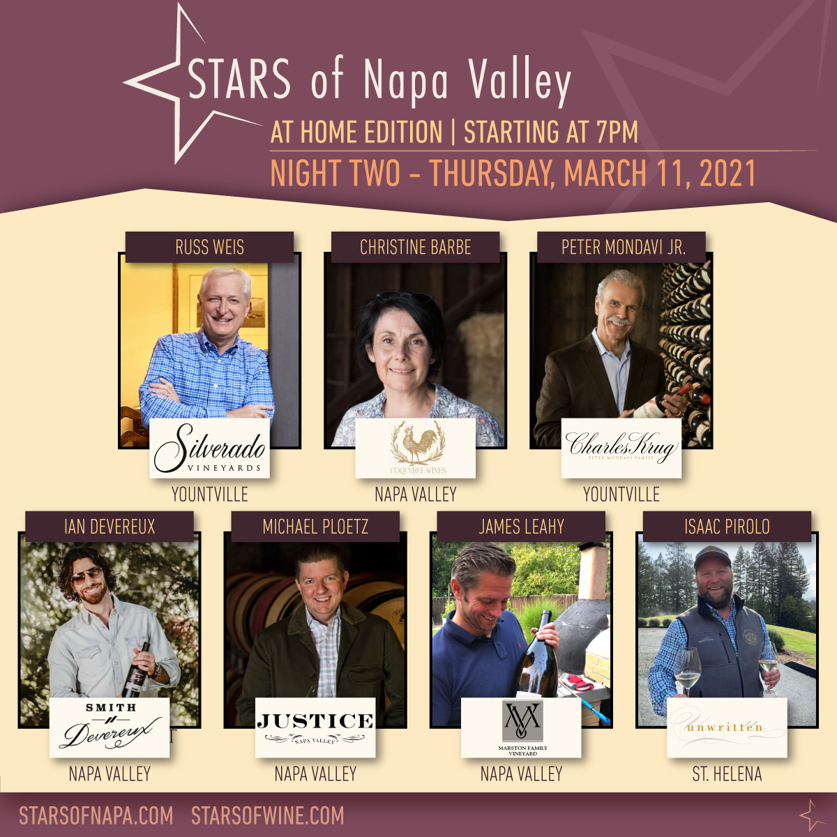 STARS of Napa Valley Night Two