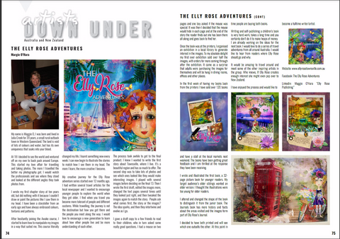 Article in Artists Down Under Magazine about Maggie O'Hara