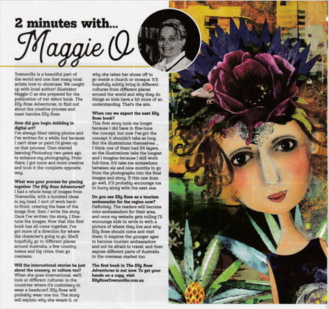 Two minutes with Maggie O'Hara in Huxley magazine