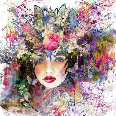 Limited Edition Print 'Fleur' created digitally by Maggie O'Hara