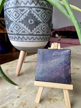 "Load image into Gallery viewer, ""Lost in Space"" Acrylic Painting on Mini Canvas w/Easel"