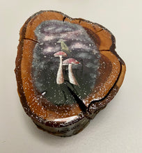 "Load image into Gallery viewer, ""Galactic Shrooms"" Acrylic Painting on Wood"