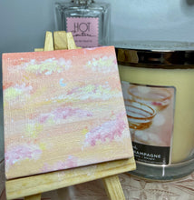Load image into Gallery viewer, Soft Skies Acrylic Painting on Mini Canvas and Easel