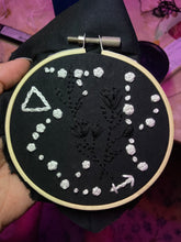 Load image into Gallery viewer, Constellation Minimalist Embroidery with Wooden Hoop