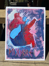 Load image into Gallery viewer, Mi Amore Anatomical Heart Abstract Oil Painting on Canvas Board