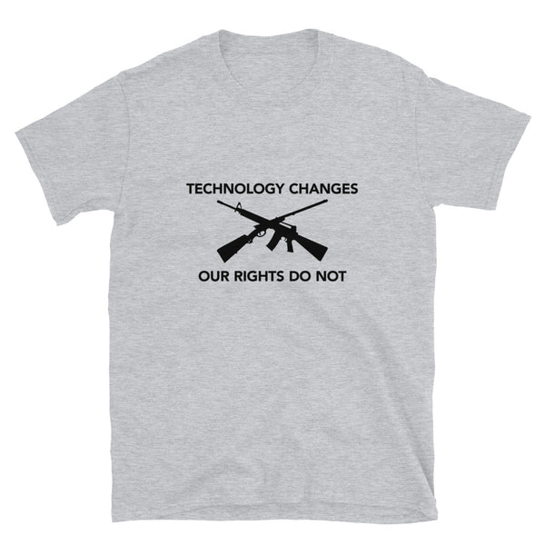 Technology Changes Our Rights Do Not (Fitted T-Shirt)