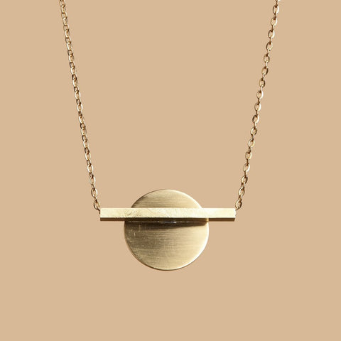 Solar gold necklace