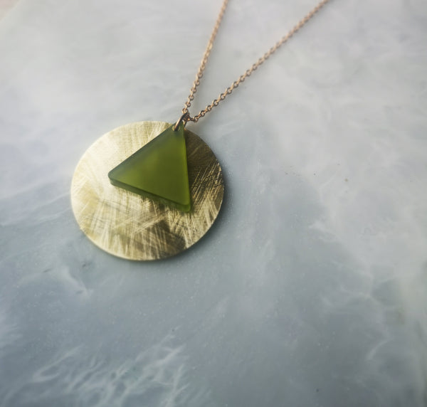 Green Triangle Necklace