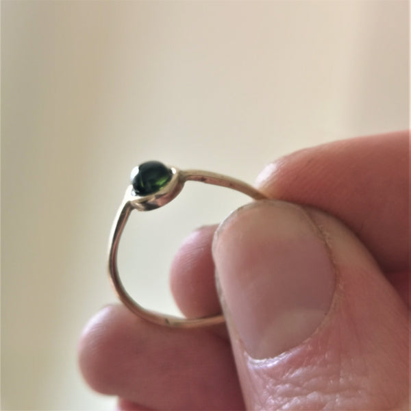 Solid Gold Green Tourmaline Ring