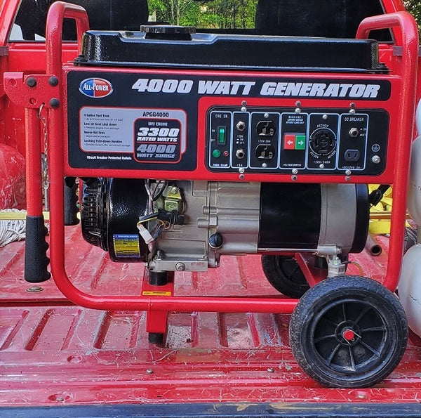 All Power APGG4000 4000 Watt Portable Gas Powered Generator