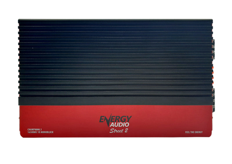 Energy Audio 1- Channel CHAMP8000.1 1650WX1 RMS at 1 Ohm Monoblock Amplifier