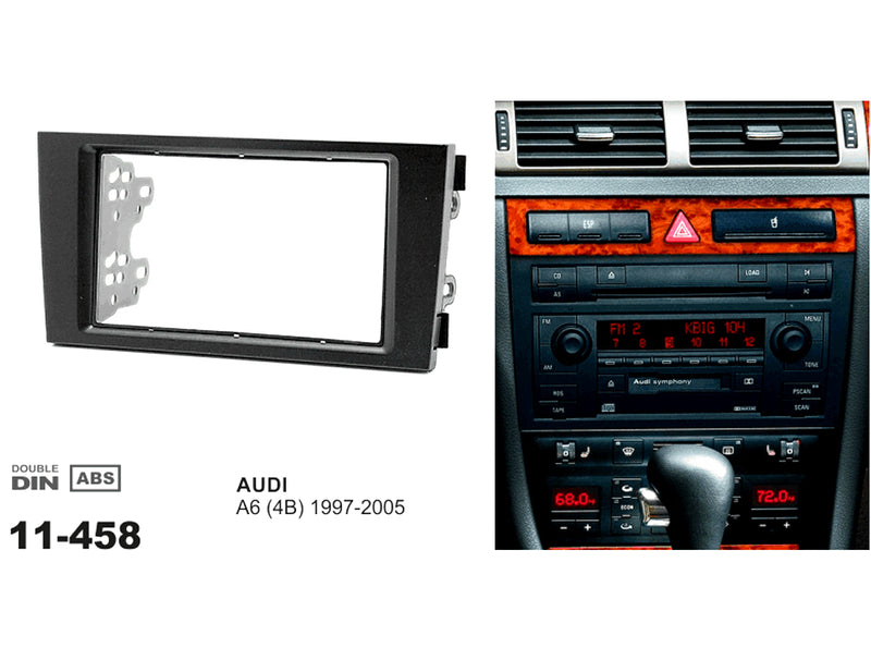 Audi 99-2005 Double Din Trimplate