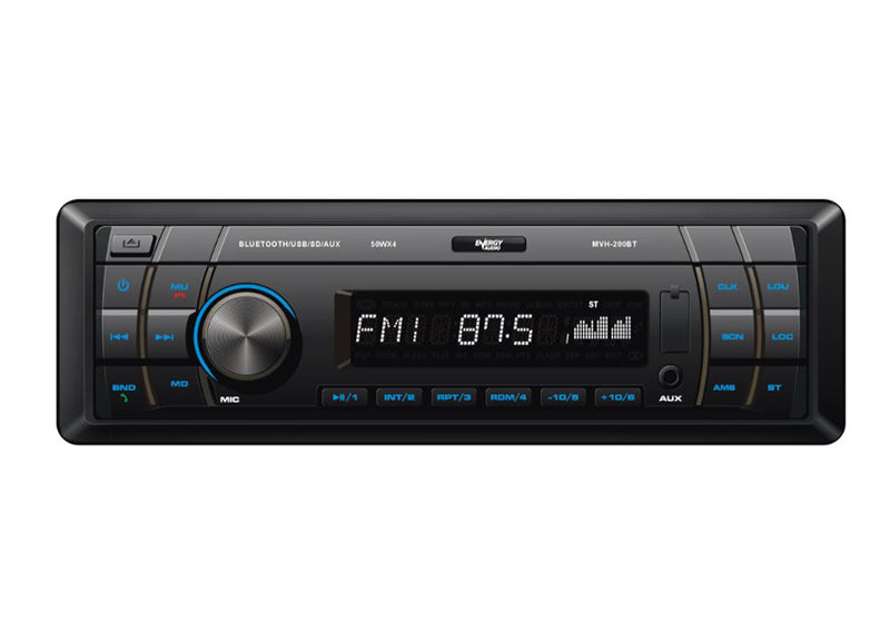 Energy Audio MVH-200BT USB/SD/AUX/FM Bluetooth Single Din Media Player