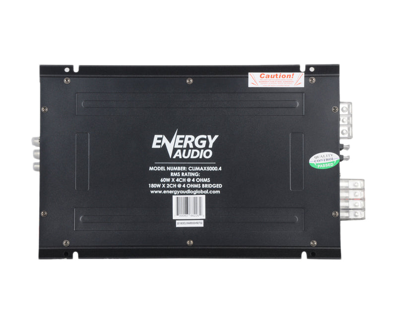 Energy Audio CLIMAX5000.4 4-Channel 60WX4 RMS at 4 Ohm Higher RMS Amplifier