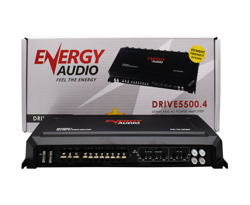 Energy Audio DRIVE5500.4 65Wx4 RMS 4-Channel Amplifier