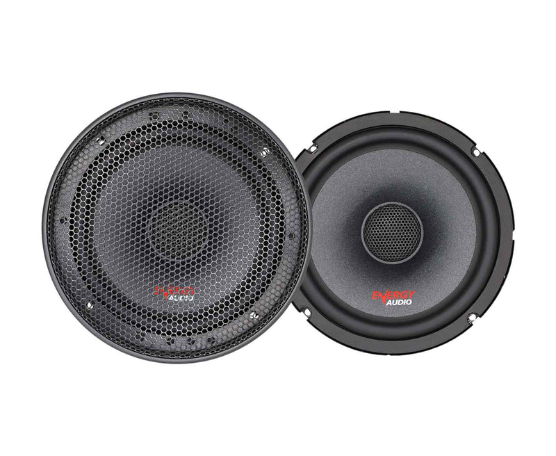 "Energy Audio SQ652 375W 2-Way 70W RMS Coaxial 6.5"" Speakers"