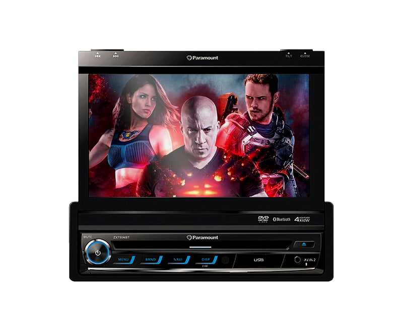 Paramount ZXN65-NO GPS Single Din In-Dash Bluetooth/USB/AUX/DVD Player