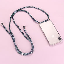 Load image into Gallery viewer, Strap Cord Chain Phone Tape Necklace Lanyard Mobile Phone Case for Carry Cover  Case Hang iPhone 12 11 Pro XS Max XR X  8Plus
