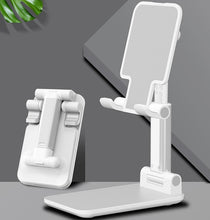 Load image into Gallery viewer, New Desk Mobile Phone Holder Stand For iPhone iPad Xiaomi huawei Metal Desktop Tablet Holder Table Cell Foldable Extend Support
