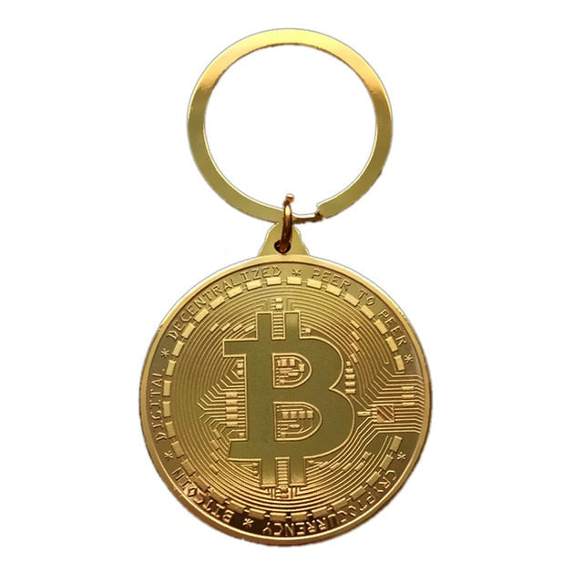 Gold Plated Bitcoin Key Chain