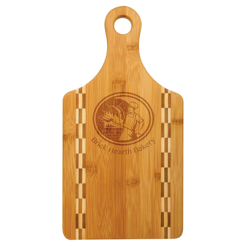 "Engraved Bamboo Cutting Board 7"" x 13"" - Free Customization"