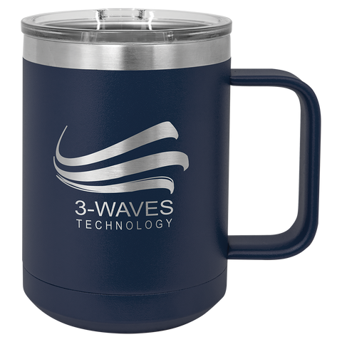 Polar Camel 15 oz. Vacuum Insulated Mug with Slider Lid - Free Customization