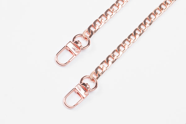 Rose Gold Miami Link Mask Chain
