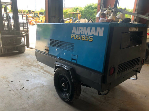 Airman PDS185S Towable Diesel Air Compressor; 185CFM; 3335 HRS