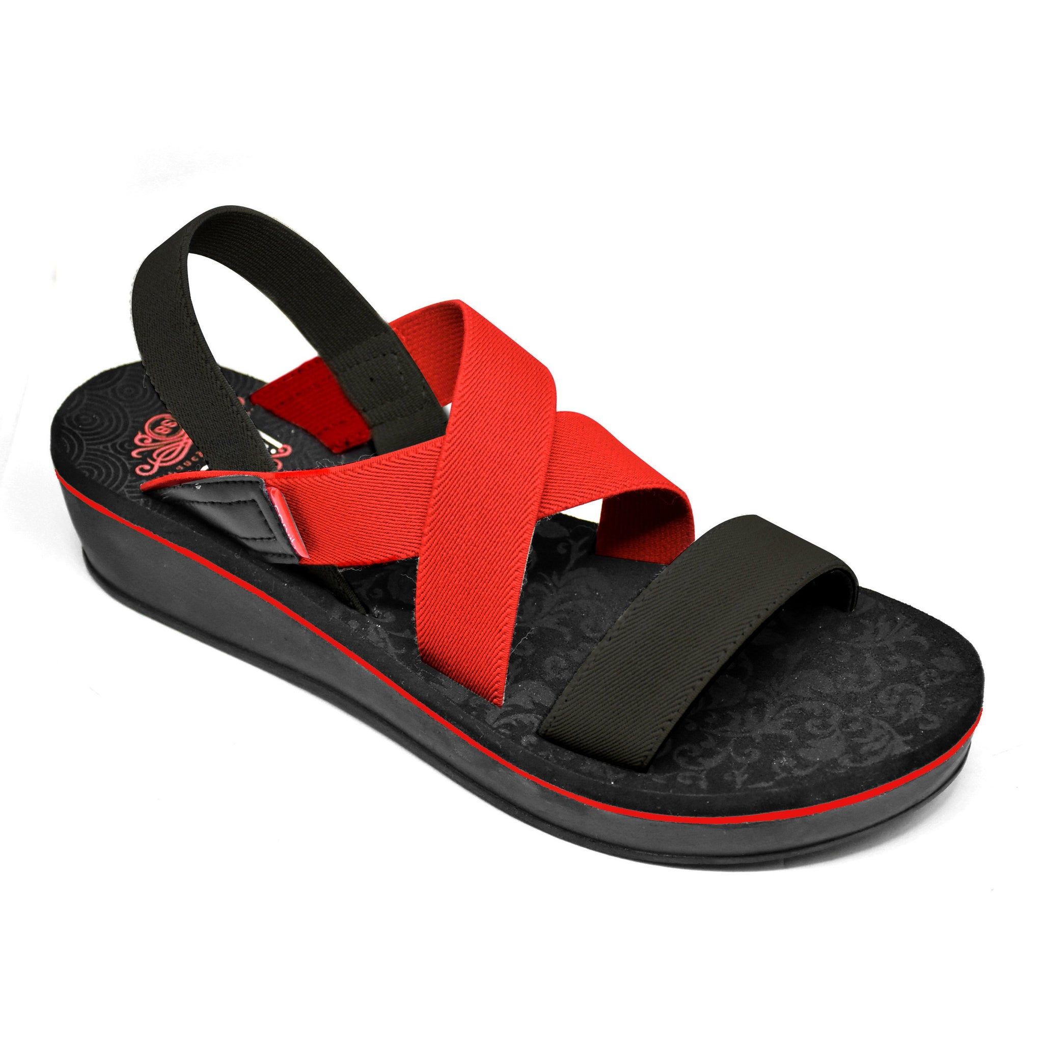 Carvil Sandal Wanita LUCY-03 GL-BLACK/RED