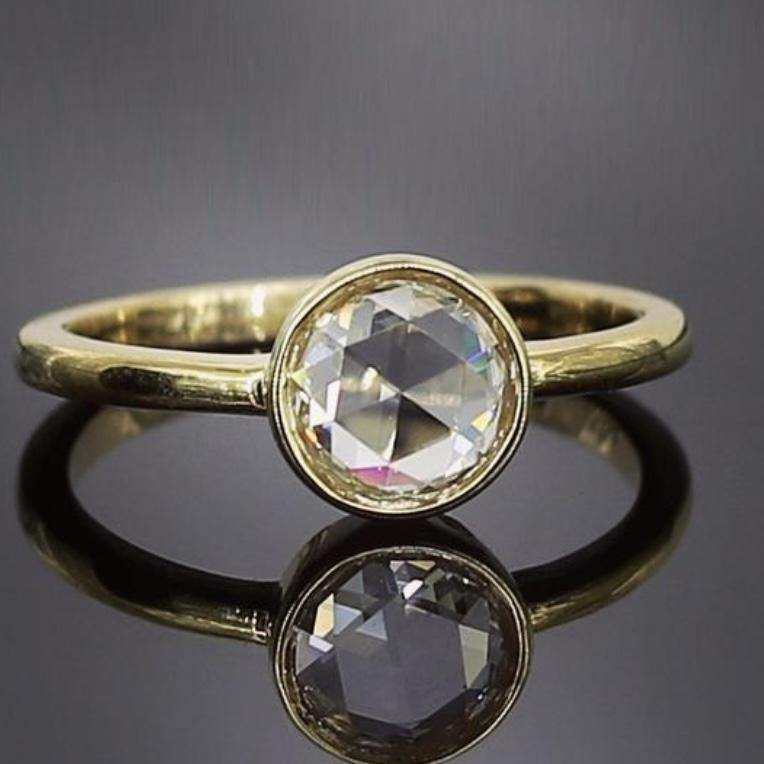 Rose Cut Diamond Ring - LeDevine Collection