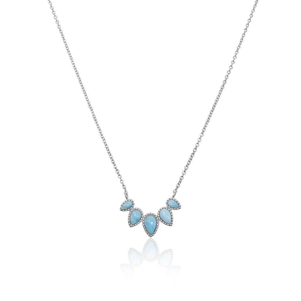 Monterey Bay Larimar Point Necklace