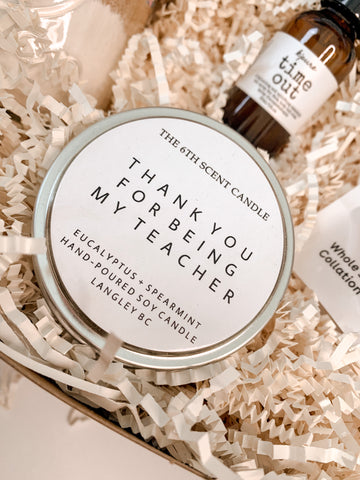 Thank you for being my Teacher - 6th Scent Tin Candle