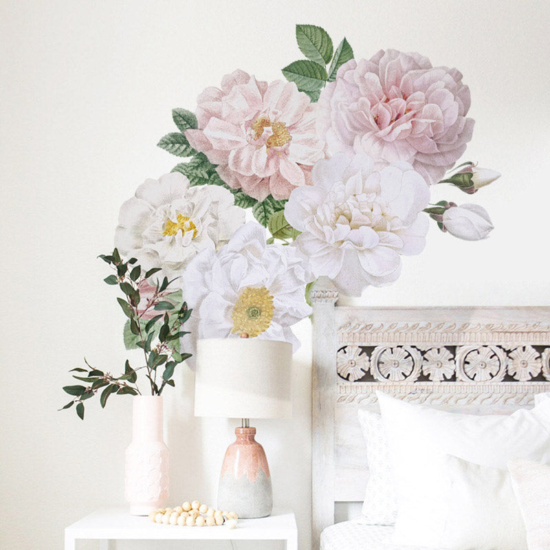 Blooming Peony Flower Wall Stickers (2 Sets)