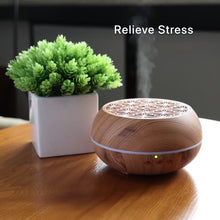 Load and play video in Gallery viewer, Wood Grain Humidifier Aroma Diffuser