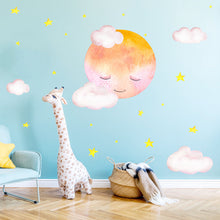 Load image into Gallery viewer, Moon Clouds Wall Sticker (2 Sets)